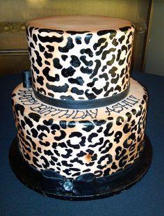 Leopard cake Hmm I want for my birthday :)