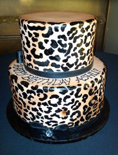Leopard cake Hmm I want for my birthday :)