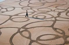 Sand Pattern Painting by Andres Amador