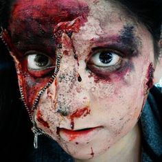 Zipper Halloween Makeup is for those who have planned to scare everyone with their dread looks. Take your look to next level & amaze everyone Zipper Halloween Makeup, Zipper Face Makeup, Halloween Makeup Clown, Fall Halloween, Halloween Ideas, Kids Makeup, Scary Makeup, Makeup Art, Makeup Ideas