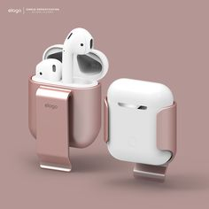 elago AirPods Belt Clip for AirPods - Rose Gold