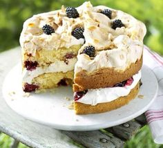 Blackberry & almond meringue cake. Impress your friends and family with this fabulous celebration cake