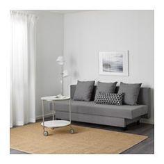 IKEA - ASARUM, Divano letto a 3 posti, , Si trasforma facilmente in un letto.Nel contenitore sotto il sedile puoi organizzare, per esempio, la biancheria da letto.
