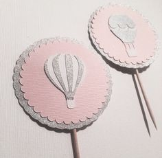 Hot Air Balloon Cupcake Toppers by modestedge on Etsy https://www.etsy.com/listing/254865904/hot-air-balloon-cupcake-toppers