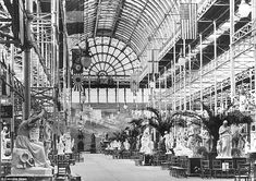 Interior: The North Nave of the Crystal Palace building is pictured in this undated photograph, looking north Scotland History, Palace London, Glass Structure, London Skyline, Greater London, Crystal Palace, World's Fair, Mountain Landscape, Gardens