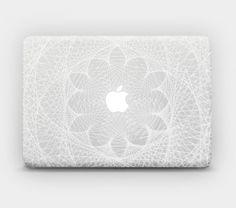 "Transparent White Ink Skin Sticker Decal for MacBook 12"" MacBook Air 11"" 13"" MacBook Pro 13"" 15"" - Fractal Rhythm"