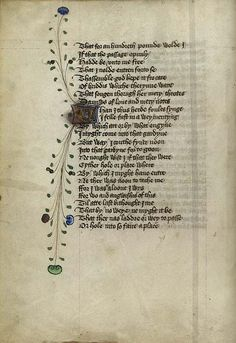 page from Geoffrey Chaucer- Roman de la Rose, in Middle English