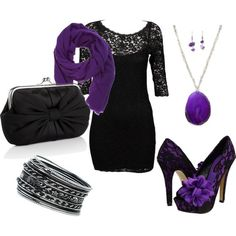Purple outfit for a party option 5. #purple #outfits #purpleoutfits #handbags #accessories #shoes #clothes