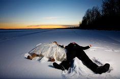 For better or worse #winterwedding#snowangels#cant#socialbysuite201