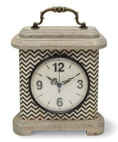 Another great find on #zulily! Black & White Pattern Clock #zulilyfinds
