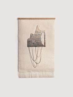 Push No. 2 by Aly Barohn. Thousands of tiny stitches hand dyed and hand embroidered.