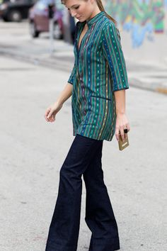 Great way to wear a tunic in chilly temps before you can wear it as a dress :)