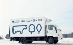 A-Moloko-milk-dairy-cow-logo-design-branding-identity-graphics-truck-livery-Russia-red-dot-award-european-design-awards-9 - Logo Designer