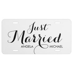 """""""Just Married"""" personalized license plate License Plate:  #justmarried #married #personalize #licenseplate"""