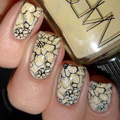 NARS Anarchy and some double stamping Trendy Nail Art, Nail Art Diy, Diy Nails, Nagel Piercing, Nail Art Stamping Plates, Moyou Stamping, Nagel Stamping, Simple Nail Art Designs, Square Nails