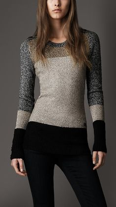 ...Something I love and probably will never be able to afford. Burberry London Colour Block Sweater