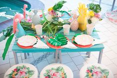 How to put together a cute kids table for a Let's Flamingo party! Flamingo Party, Kid Table, Cute Kids, Table Decorations, Home Decor, Homemade Home Decor, Interior Design, Home Interiors, Decoration Home
