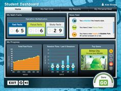 Fastt Math Student Dashboard from Scholastic
