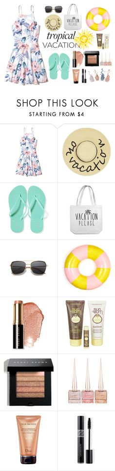 """Untitled #21"" by ruslina ❤ liked on Polyvore featuring Hollister Co., August Accessories, Old Navy, ban.do, Bobbi Brown Cosmetics, Sun Bum, Christian Louboutin and Christian Dior"
