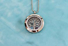 Tree of Life - Hand Stamped Jewelry Personalized Mini Memory Locket Necklace- Wiccan Jewelry - Pagan Jewelry on Etsy, $30.00