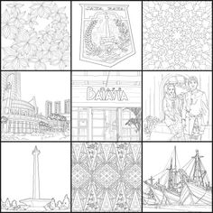 16 Popular Jakarta Coloring Book Images Adult Coloring Adult