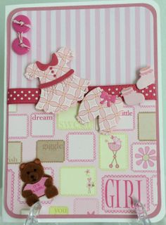 Baby Girl Card Cottage Cutz