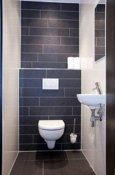 modern toilet in zwart en wit na STIJLIDEE Interieuradvies en Styling via www.stijlidee.nl