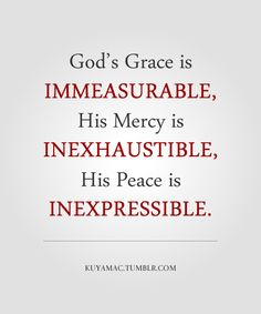 The peace He gives truly is the most amazing feeling, yet the most inexpressible one as well.