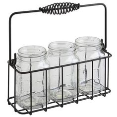 Cottage chic or industrial style? This four-piece set is so versatile, we think it's both. In the kitchen, use it to hold the usual utensils, straws, napkins or chopsticks. In your office, it's a desk organizer, holding pens, paper clips and rubber bands.