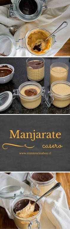 El manjarate es un mousse de manjar con cubierta de chocolate, un postre delicioso y fácil para disfrutar en familia.