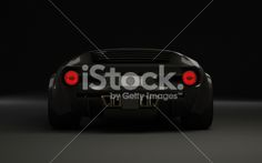 Exotic sportscar from behind Royalty Free Stock Photo