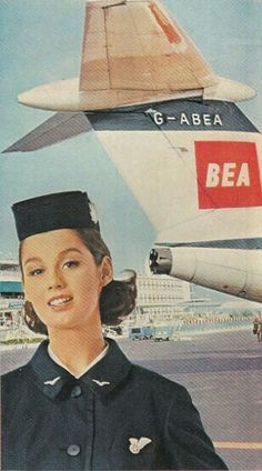 British European Airways Stewardess 1965 Image