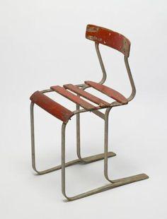 Marcel Breuer; garden chair mod. 1083, steel and wood, Bauhaus, Germany, 1933