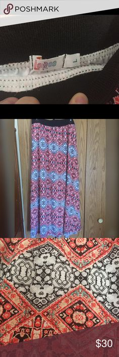 Lularoe Jill Skirt It is new without tags. Soft flowy and wonderful. Been worn a couple times. No defects. LuLaRoe Skirts Maxi
