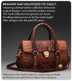 Brahmin. Vault Collection. Torey Top Handle Bag.