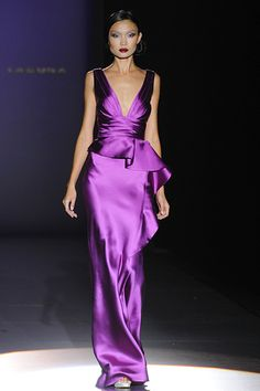 Fashionadictas by Marcela: Cibeles Madrid Fashion Week spring-summer 2012 Evening Dresses, Prom Dresses, Purple Fashion, Satin Dresses, The Dress, Dress To Impress, Beautiful Dresses, Fashion Show, Fashion Dresses