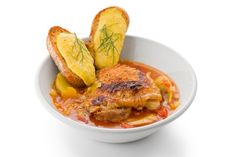 Chicken Bouillabaisse with Rouille. ~ Adding a little Herbes de Provence to this recipe would be good too.
