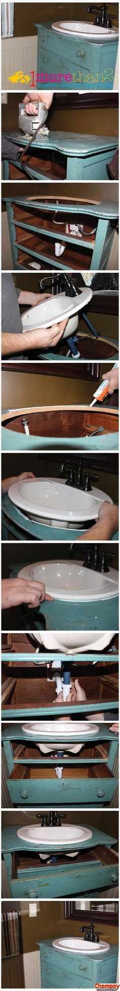 A funny picture of make bathroom sink out ofunny photos a dresser fun home ideas