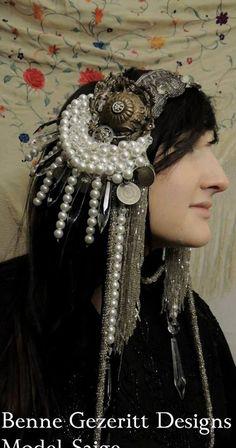 The beginnings of inspiration...Artemis a Tribal Fusion bellydance head by BenneGezerittDesigns, $359.00
