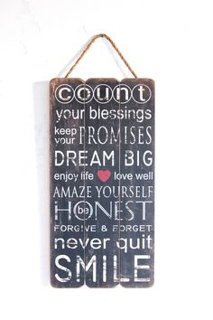 Inspirational Quote Inspirational Sign Home Decor by honeywoodhome