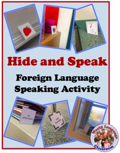 and Speak (or Write): Foreign (Wolrd) Language Activity to Practice Speaking and Writing (French, Spanish) wlteacher.Hide and Speak (or Write): Foreign (Wolrd) Language Activity to Practice Speaking and Writing (French, Spanish) wlteacher. Spanish Activities, Vocabulary Activities, Teaching Activities, Language Activities, Spanish Games, Teaching Vocabulary, Listening Activities, Spanish Vocabulary, Preschool Worksheets