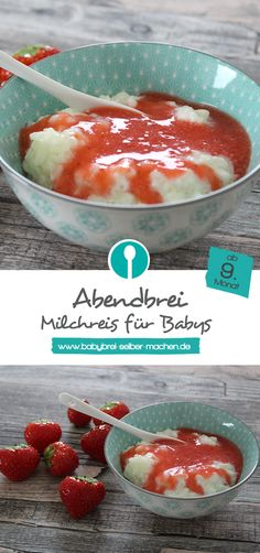 Milchreis ist als Alternative zum normalen Abendbrei für Babys ab etwa dem 9.Monat geeignet.