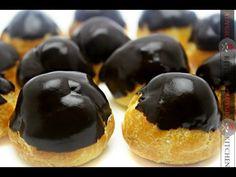 Reteta Profiterol - Profiteroles - Adygio Kitchen - YouTube Profiteroles Recipe, Pasta Choux, Food Cakes, Cake Recipes, Cheesecake, Muffin, Cooking Recipes, Breakfast, Desserts