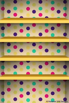 Yellow & polka dots, get crafty and repaint your closet space