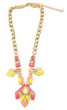 Leighton statement necklace! https://belleboutiquenwa.com/geo-crystal-statement.html #xoxoBelle #statementnecklace #fashion #summerlooks