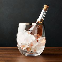 Pryce Champagne/Ice Bucket at Crate and Barrel Canada. Discover unique furniture and decor from across the globe to create a look you love. Champagne Ice Bucket, Flute Champagne, Champagne Buckets, Batch Cocktail Recipe, Home Bar Accessories, Wine Bucket, Painting Trim, Crate Storage, Wine Chiller