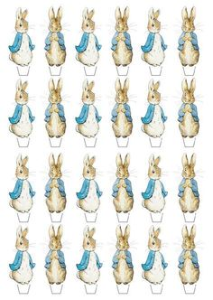 Peter Rabbit Edible Wafer Cup Cake Toppers Standing or Disc #Unbranded