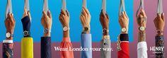 画像: 3/13【英国発ウオッチ「ヘンリーロンドン」が本格上陸、地下鉄の駅名を付けた15色を展開】