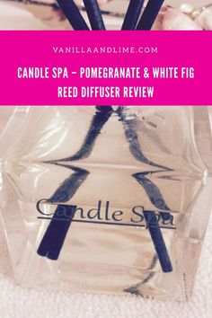 Candle Spa – Pomegranate & White Fig Reed Diffuser Review Pomegranate, Fig, Diffuser, Fragrance, Candles, Beauty, Granada, Pomegranates, Candy