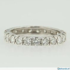14 kt gouden ring alliance 0.92 ct diamanten briljanten - Te koop
